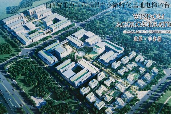 المشاريع الرئيسية مقاطعة جيانغشى نانتشانغ قاعدة صغيرة حاضنة المصعد 97 مجموعات
