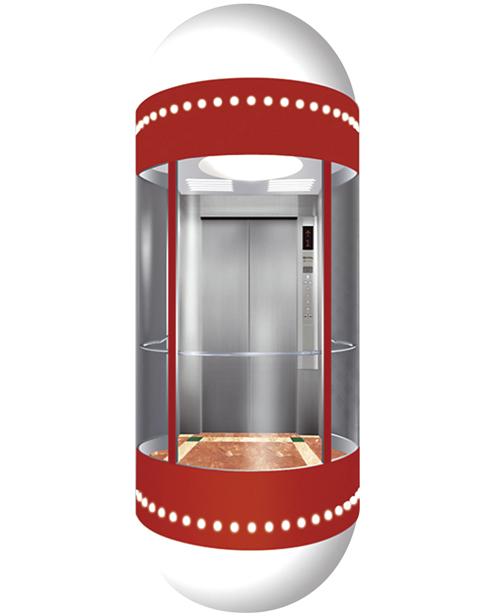 بانورامي مصعد سيارة الديكور SSE-G004