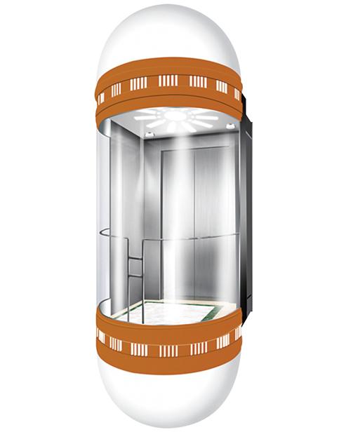 بانورامي مصعد سيارة الديكور SSE-G005