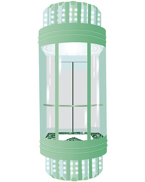 بانورامي مصعد سيارة الديكور SSE-G007