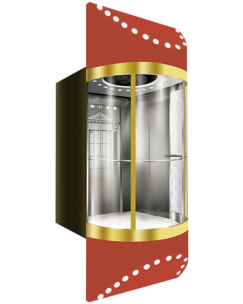 بانورامي مصعد سيارة الديكور SSE-G011