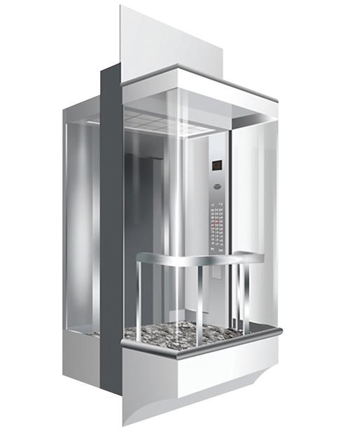 بانورامي مصعد سيارة الديكور SSE-G017