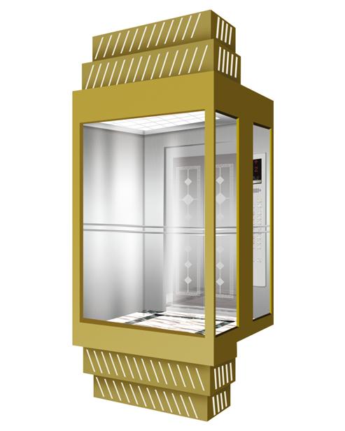 بانورامي مصعد سيارة الديكور SSE-G018