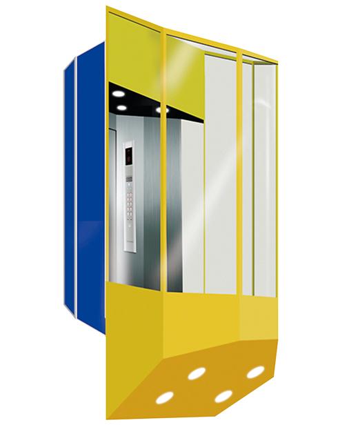 بانورامي مصعد سيارة الديكور SSE-G019