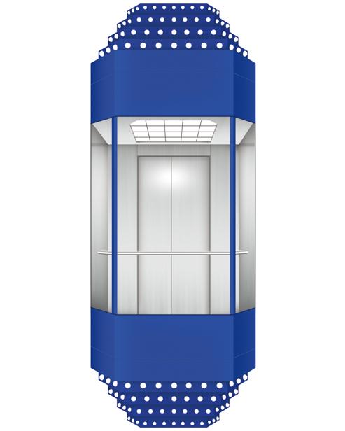 بانورامي مصعد سيارة الديكور SSE-G022