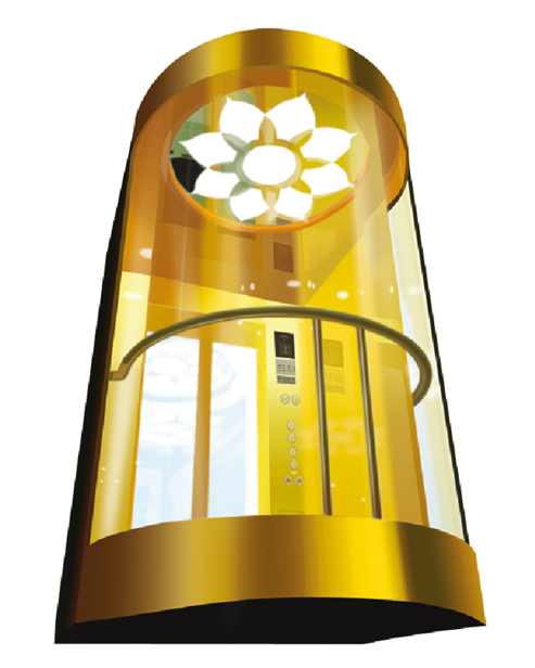 بانورامي مصعد سيارة الديكور SSE-G023