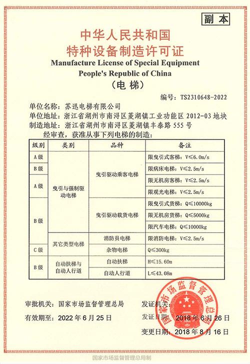 نسخة من رخصة التصنيع
